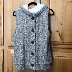 Vanity New Sweater Fleece Vest Warm Winter Large